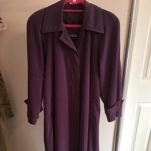 Portrait Women's Purple Trench coat Lined Size 10